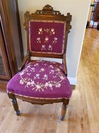 Carved antique chair, great condition