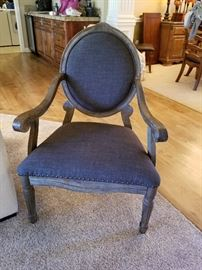 Pair of elegant side chairs