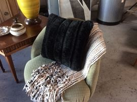 Milo Baughman style tub chair