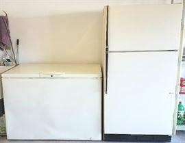 Chest freezer & Refrigerator