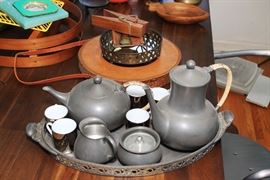Vintage Pewter Tea Set