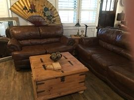 Leather Sofa & Love seat from Ashley Furniture