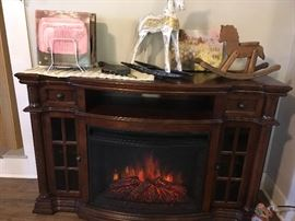 TV Cabinet w/electric fireplace