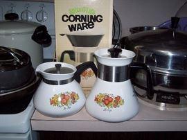 Vintage Corning Spice O'Life Coffee Pot in Original Box - New & Tea Pot