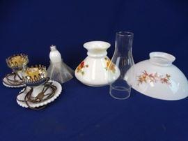 2 Electric Ceramic Lamps w/  Ceramic etc.,