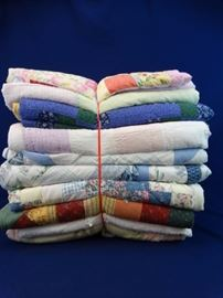 Various Quilts, Different Sizes
