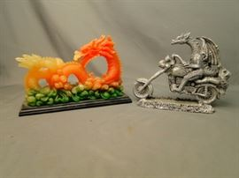 2 Dragon Figurines