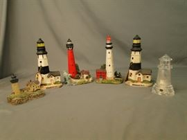 2 Lighthouse figurines