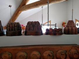 Antique copper molds