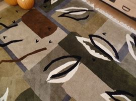 Tibetan 100% Wool rug 8 x 10