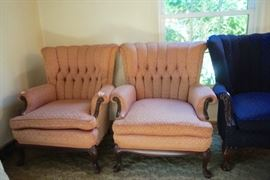 Antique Tufted Arm Chairs