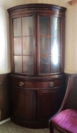 Early American Bowfront Cabinet