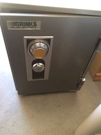 Brinks safe.  Has keys and combination