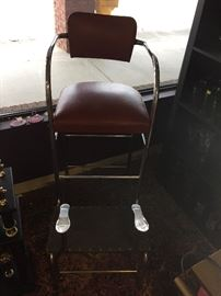 Vintage Shoe Shine Chair.  Seats recently recovered