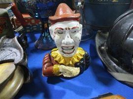Mechanical clown bank