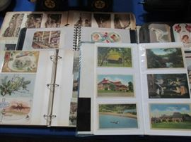 Antique postcard albums