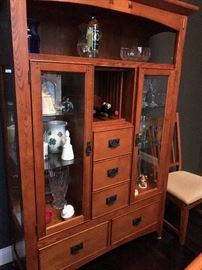 Mission style armoire