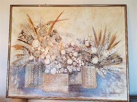 1970s Stephen Kaye raised acrylic canvas