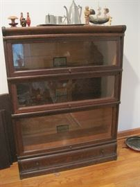 oak stack bookcase