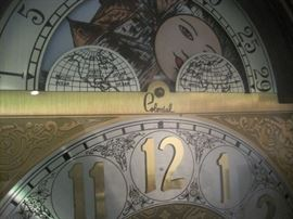 dial of grandfather clock