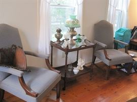 pair of chairs & stand