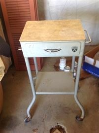 Two very nice vintage medical office rolling carts