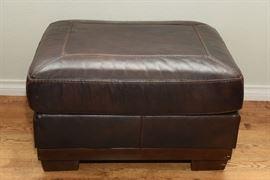 Ashley Leather Ottoman