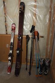 Childs 136 Skis With Salomon Bindings, Salomon Lord Skis 185 With Salomon Bindings