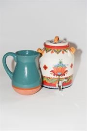 Colorful Pitcher And Beverage Dispenser