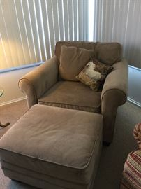 Matching chair & ottoman (Jonathan Louis)