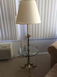 vintage Stiffel brass bottom table lamp