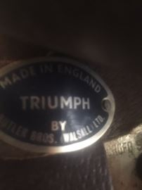Triumph equitation saddle, made in England