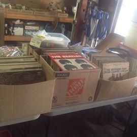Vinyl LP's.  At least 4 boxes!