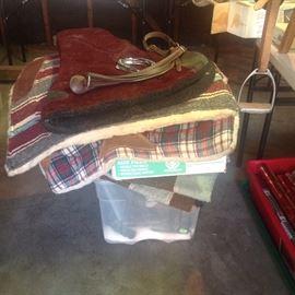 Horse padded saddle blankets