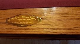 pool table name plate