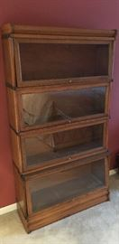 Antique Stackable Bookcase - Glass Front