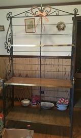 Wrought Iron Bakers Rack  (bring help to move - it's big and heavy!)