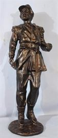 194a  Bronze stgatue of French soldier, 31 in. T.