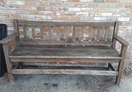 6ft 2in wooden bench