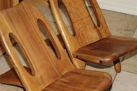 Hand Carved Mexican Viking Chairs