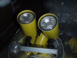 Yellow safety/emergency lights.