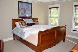 Douglasville Estate Sale by Atlanta Estate Sale Companies- King Size Bed, King Size Tempurpedic Mattress Set, Linens, Art, and More.