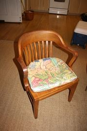 Nice vintage oak office chair