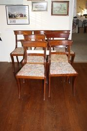 7 cherry chairs in great condition