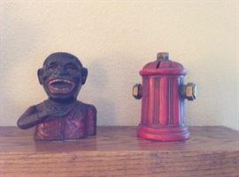 Jolly Negro cast iron bank