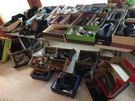 Shoes and boots, mostly size 6 and 6.5