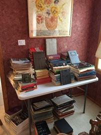 New and antique books, lots of music books