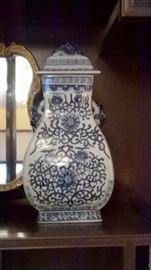 Blue and White vase right