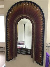 "Navajo Custom Southwest Mirror 48"" x 30"""