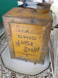 Old Maple Syrup Tin